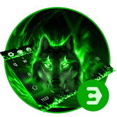 Green Wolf Moon Animal Keyboard icon