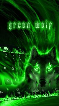 Green Wolf Moon Animal Keyboard apk screenshot