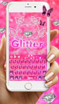 Stylish Shiny pink Glitter Keypad poster