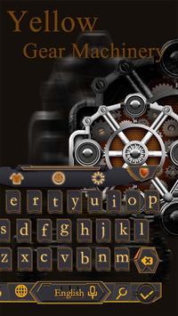 Mechanical Equipment Gear Metal Keyboard Theme poster