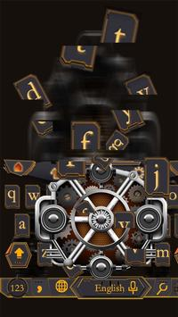 Mechanical Equipment Gear Metal Keyboard Theme screenshot 1