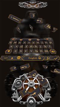 Mechanical Equipment Gear Metal Keyboard Theme screenshot 2