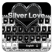 Silver Love Keyboard icon