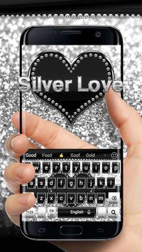 Silver Love Keyboard poster