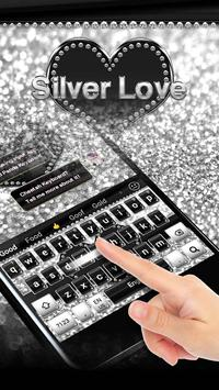 Silver Love Keyboard apk screenshot