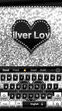 Silver Love Keyboard screenshot 2