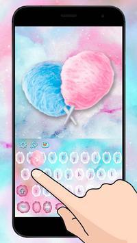 Sweet Cotton Candy keypad apk screenshot