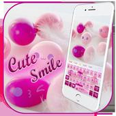 Cute Pink Smiles Keypad icon
