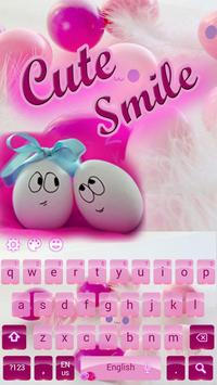 Cute Pink Smiles Keypad poster