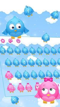Cute Birds Keyboard Theme poster