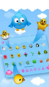 Cute Birds Keyboard Theme apk screenshot