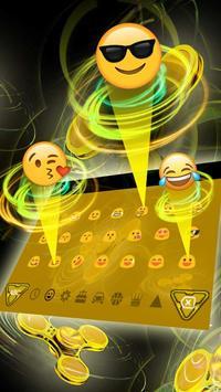 Golden Fidget Spinner Keyboard apk screenshot