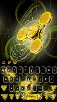 Golden Fidget Spinner Keyboard poster