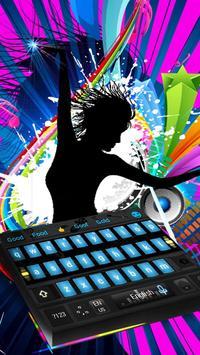 Music dynamic DJ to play disc keyboard theme poster