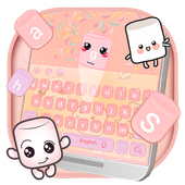 Marshmallow candy  keyboard Theme icon