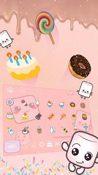 Marshmallow candy  keyboard Theme screenshot 3