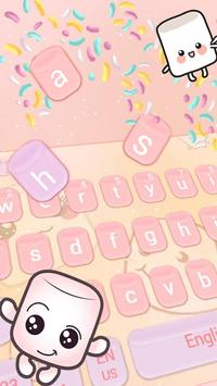 Marshmallow candy  keyboard Theme poster