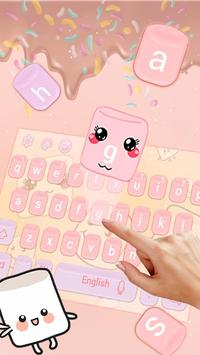 Marshmallow candy  keyboard Theme screenshot 1