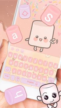Marshmallow candy  keyboard Theme screenshot 2