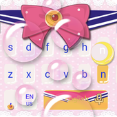 Pink Bow Cartoon Cute Girl's Clothing Keyboard icon