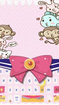 Pink Bow Cartoon Cute Girl's Clothing Keyboard poster