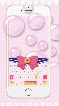 Pink Bow Cartoon Cute Girl's Clothing Keyboard screenshot 1