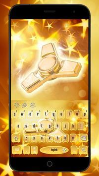 Golden Fidget Spinner Luxury Keypad Theme poster