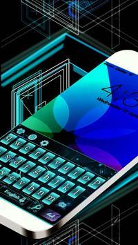 Green High-tech Electronic Keyboard Theme poster