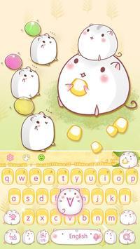 Cute Corn Hamster Keyboard screenshot 3
