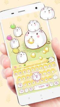 Cute Corn Hamster Keyboard poster