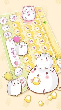 Cute Corn Hamster Keyboard screenshot 1