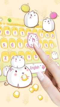 Cute Corn Hamster Keyboard screenshot 2