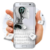 Mechanical silver keyboard icon