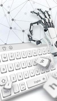 Mechanical silver keyboard apk screenshot