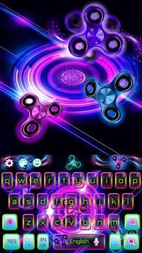 Neon Fidget Spinner Keyboard apk screenshot