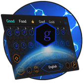 Blue Honeycomb Simple Tech Network Keyboard Theme icon