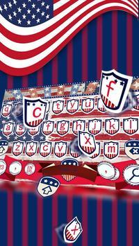 American the Statue of Liberty Flag Keyboard Theme apk screenshot