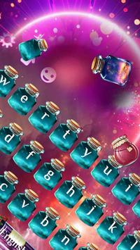 Purple David's deer Wishing Bottle Keyboard Theme screenshot 1