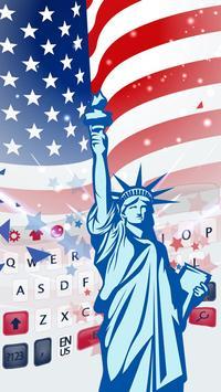 The Statue Of Liberty Of America Flag Keyboard screenshot 1