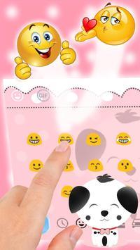 Cute Pink Puppy Emoji Keyboard screenshot 3