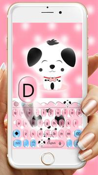 Cute Pink Puppy Emoji Keyboard screenshot 1