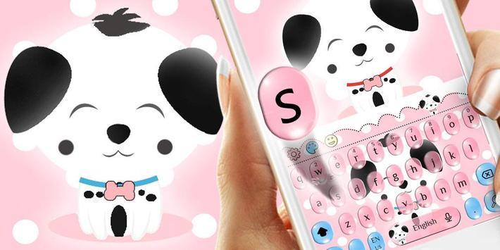 Cute Pink Puppy Emoji Keyboard screenshot 4