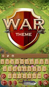 Fight War field Keyboard poster