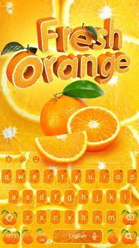 Fresh Orange Typewriter poster