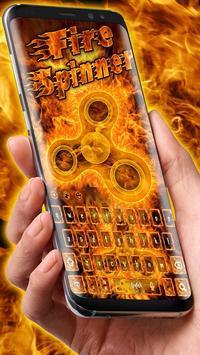 Fire Fidget Spinner Keyboard apk screenshot