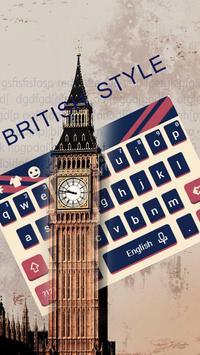 British Big Ben Classic Flag Keyboard London Theme poster