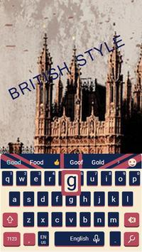 British Big Ben Classic Flag Keyboard London Theme apk screenshot