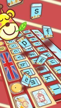 British Flag Cartoon Deer Red Bus Keyboard theme apk screenshot