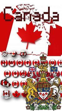 Canadian Maple Leaf Flag Keyboard Theme poster