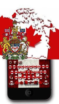 Canadian Maple Leaf Flag Keyboard Theme apk screenshot